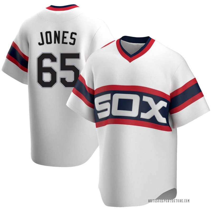 Men's Nate Jones Chicago White Sox Replica White Cooperstown Collection Jersey