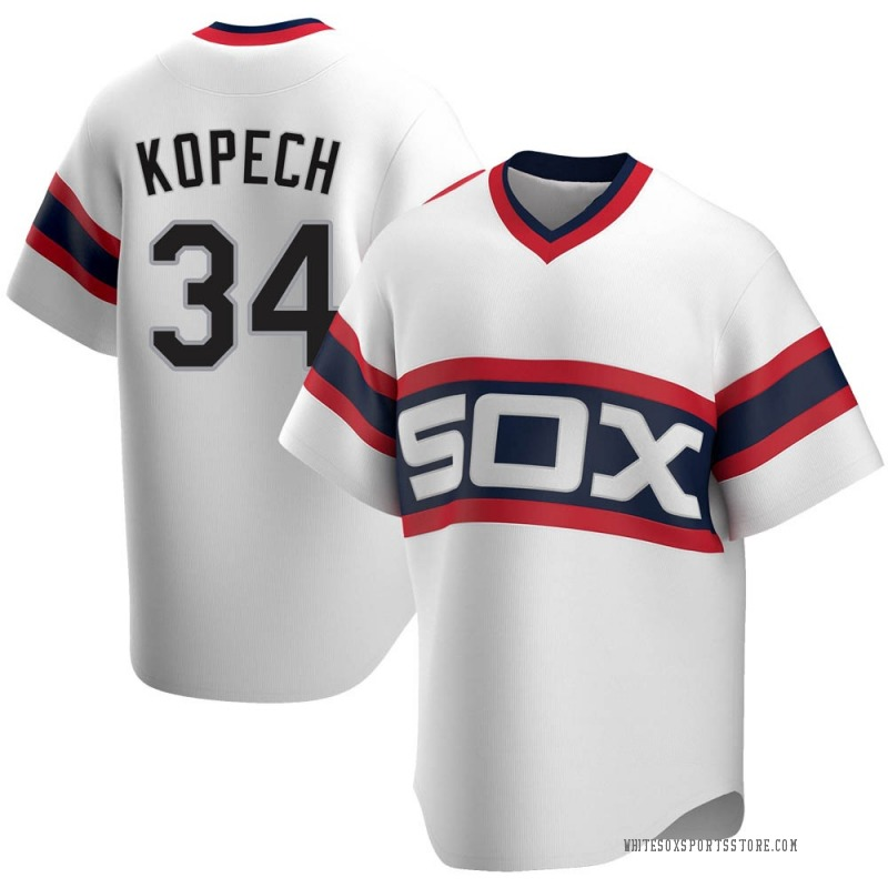 Youth Michael Kopech Chicago White Sox Replica White Cooperstown Collection Jersey