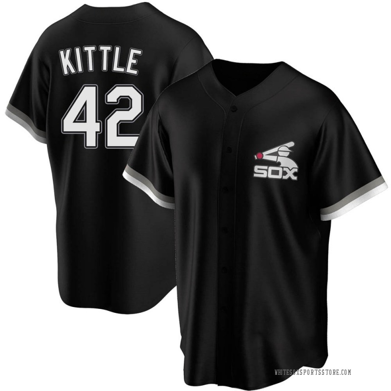 Youth Ron Kittle Chicago White Sox Replica Black Spring Training Jersey