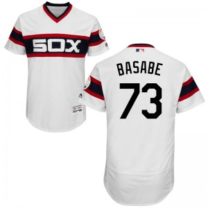 Men's Majestic Luis Basabe Chicago White Sox Authentic White Flex Base Alternate Collection Jersey