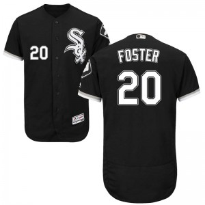 Men's Majestic Matt Foster Chicago White Sox Authentic Black Flex Base Alternate Collection Jersey