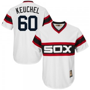 Men's Majestic Dallas Keuchel Chicago White Sox Replica White Cool Base Cooperstown Collection Jersey
