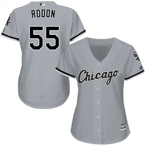 Women's Majestic Carlos Rodon Chicago White Sox Replica Grey Road Cool Base Jersey