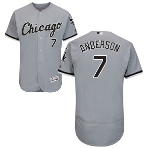 Men's Majestic Tim Anderson Chicago White Sox Replica Gray Road Flex Base Collection Jersey