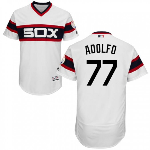 Youth Majestic Micker Adolfo Chicago White Sox Authentic White Flex Base Alternate Collection Jersey