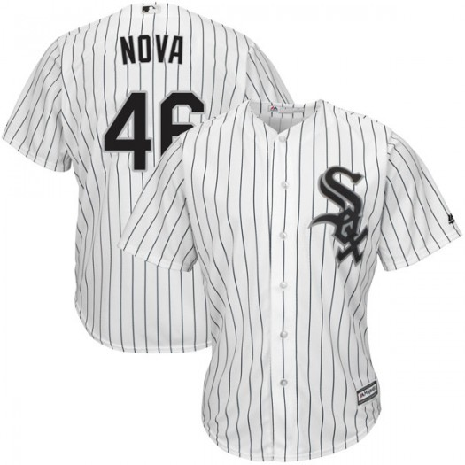 Men's Majestic Ivan Nova Chicago White Sox Authentic White Cool Base Home Jersey