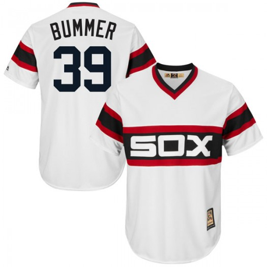 Youth Majestic Aaron Bummer Chicago White Sox Player Replica White Cool Base Cooperstown Collection Jersey
