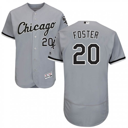 Youth Majestic Matt Foster Chicago White Sox Authentic Gray Flex Base Road Collection Jersey