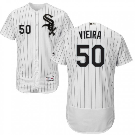 Youth Majestic Thyago Vieira Chicago White Sox Authentic White Flex Base Home Collection Jersey