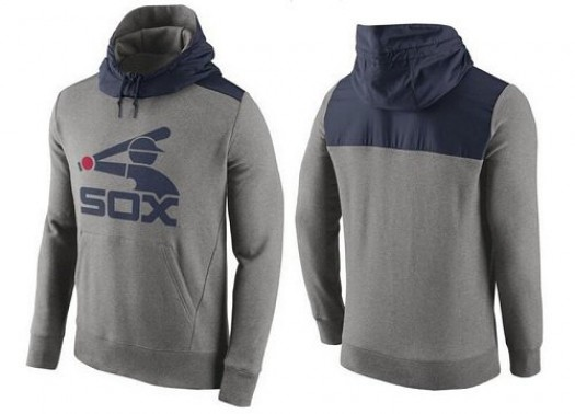 Men's Nike Chicago White Sox Gray Cooperstown Collection Hybrid Pullover Hoodie